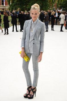 Gabriella Wilde arriving for the Burberry Prorsum catwalk -- Portrait - Fashion - Editorial - Runway - Photography