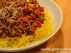 Lamb & Beef Bolognese Sauce Over Spaghetti Squash Recipe 73