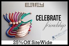 """""""Celebrate Your Friendship """" Save: http://wativ.com/promo-codes/effy-jewelry/?utm_source=pinterest&utm_medium=social&utm_campaign=Effy%20Jewelry&utm_term=Effy%20Jewelry%20pinterest.com/pin/342062534176614715/ 25% Off Sitewide on your #Friendship #Bracelets at #EffyJewelry.com By Using Effy #Jewelry #PromoCodes, Effy Jewelry #Discount & #Coupons."""