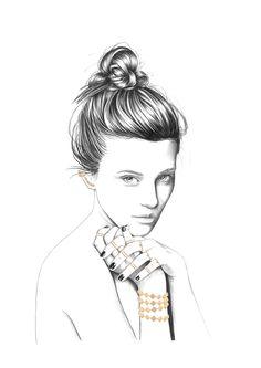 Florian Meacci Illustration for Sarah Noor Jewellery
