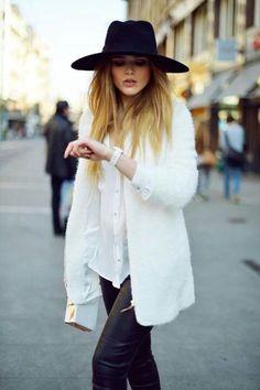les chapeaux et capelines d'hiver, j'adore !