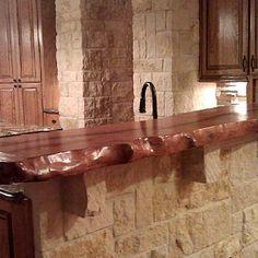 Fantastic bar top!  Mesquite Countertops - Mesquite Hardwood Countertops - Sekula Sawmilling