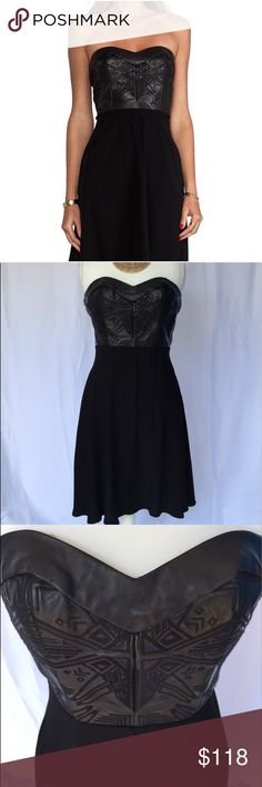 Twelfth Street by Cynthia Vincent Kashmir Dress Twelfth Street by Cynthia Vincent Kashmir Leather Corset Dress in Black.  Real leather top with embroidered design, sweetheart neckline, zippered back. Size 2.  Excellent Used Condition.                                                                                   No Trades. Twelfth Street by Cynthia Vincent Dresses Strapless