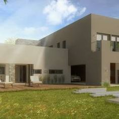 Después l Fachada Posterior: Casas de estilo Minimalista por Casa Meva