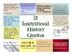 FREE - 12 posters to display in your classroom. These are great for helping students understand that history is more important than memorizing dates.