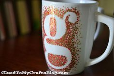 Glued to my Crafts: DIY Painted Mugs - That Won't Wash Away {Craft}
