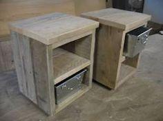Stoer steigerhouten nachtkastje
