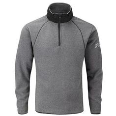 Oscar Jacobson Charlie Half Zip Sweater - Dark Grey