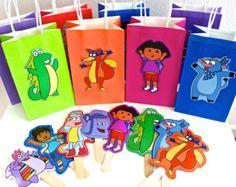 Dora the Explorer - Dora the Explorer Birthday - Dora Party - Dora Goodie Bag - Dora Paper Doll - Dora Party Favor - Dora Decorations