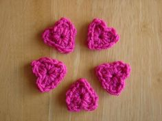 Free Crochet Pattern...One Round Hearts!