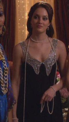 Blair Waldorf  Foley + Corinna Rhinestone Collared Dress