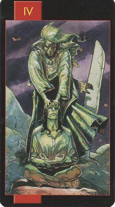 Gothic Tarot of Vampires- The Emperor