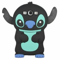 Black Cute 3D Stitch with Movable Ears Silicone Rubber Soft Case Cover for Samsung Galaxy S3 i9300 - Weekly Deals