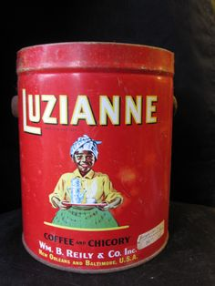 Vintage Luzianne Coffee Tin is from 1928. by ForgottenPast on Etsy