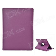 """Protective Rotatable PU Leather Full Body Case w/ Stand for 10.5"""" Samsung Galaxy Tab S - Purple Price: $11.23"""