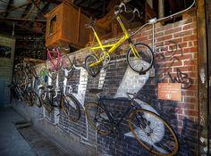 Bikes at Evergreen Brickworks, #Toronto.