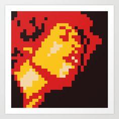 Jimi Hendrix Experience cover minimal 8bit art print on society6 by 8bitbaba. #jimihendrix #rock #blues #music #albumcover #pixelart #8bitart #8bitbaba