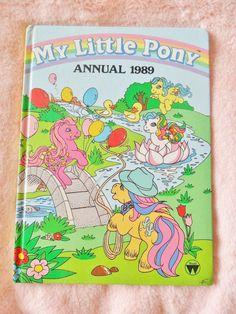 Vintage Retro Kitsch 1989 My Little Pony Pastel Collectible MLP Annual Book Source:kawaiiordiebitch