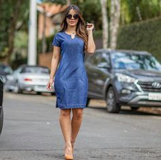 { Jeans da divo 😍} Whats 62 62 985129443 ou 62 62 985129443 Jean Dress Outfits, Jeans Dress, Nice Dresses, Casual Dresses, Dresses For Work, Summer Dresses, African Fashion Dresses, African Dress, Indian Designer Outfits