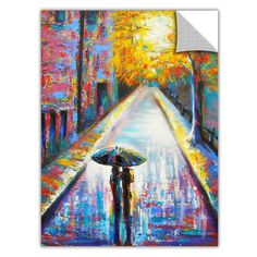 ArtApeelz 'Paris Back Street Magic' by Susi Franco Painting Print Removable Wall Decal