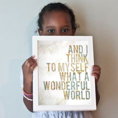 Wonderful World print by GusAndLula on Etsy