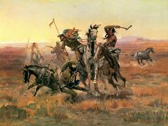 """Charles Marion Russell, """"When Blackfoot And Sioux Meet"""""""
