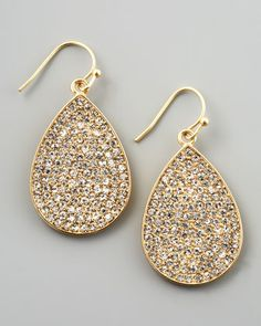 Pave Crystal Teardrop Earrings by Flying Lizard at Neiman Marcus.
