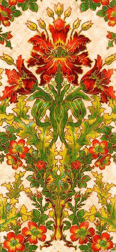 eQuilter Claridge Manor - Morris Flower - Latte/Gold