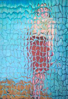 Catawiki, pagina di aste on line Paolo Avanzi - Donna sul fiume