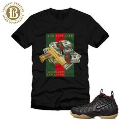 FOAMPOSITE GUCCI - BLACK - MONEY AND GUN - SS / BLK (MEN)