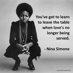 Nina Simone was always dropping gems. Wise Quotes, Great Quotes, Quotes To Live By, Motivational Quotes, Inspirational Quotes, Black Women Quotes, Black History Quotes, Quotes Women, Famous Women Quotes