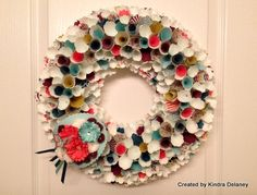 Kindra Delaney SU! Paper Wreath featured on Stampin' Pretty