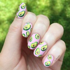 "nailallie: "" Avocado nails! """