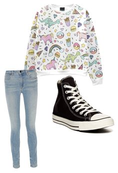 """""""Untitled #1"""" by oliolimarie26 ❤ liked on Polyvore featuring Alexander Wang and Converse"""
