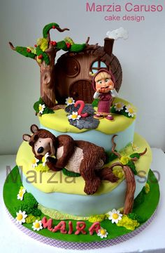 Another bautiful cake Masha and the Bear by Marzia Caruso <3