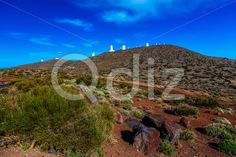 Qdiz Stock Photos Landscape with Astronomical Observatory in Tenerife