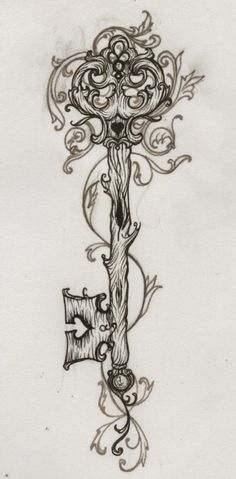 ... key tattoo design sketch magazine heart key tattoo free tattoos