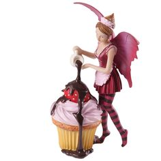 Fairy cupcake figurine in Collectables, Fantasy/Myth/Magic, Mythical Creatures | eBay!