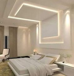 Discover recipes, home ideas, style inspiration and other ideas to try. Simple False Ceiling Design, House Ceiling Design, Ceiling Design Living Room, False Ceiling Living Room, Bedroom False Ceiling Design, Home Ceiling, Home Room Design, Master Bedroom Design, Modern Bedroom