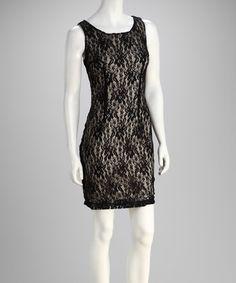 Black & Tan Lace Dress