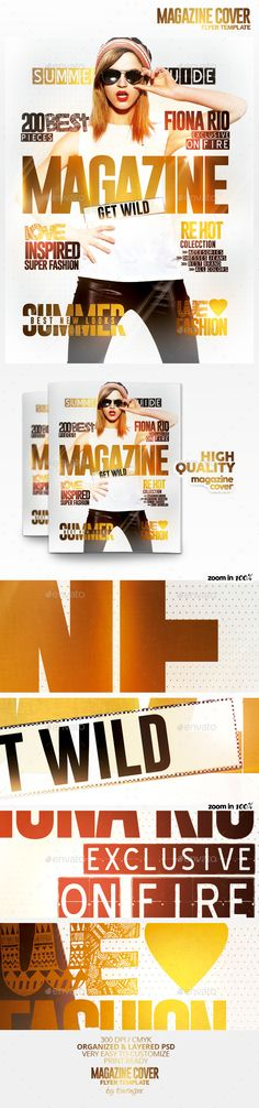 Magazine Cover Flyer Template / $5. This flyer is perfect for the promotion of Shops/Boutiques, Sales/Promotions, Fashion Shows, New Collections, Events, Festivals or Whatever you Want!.