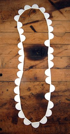 halfmoon necklace :: Rebecca Hannon  2010 - porcelain paper, cable