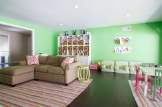 A Playroom Fit for a Trio of Modern Princesses by Anthology Interiors #playroom