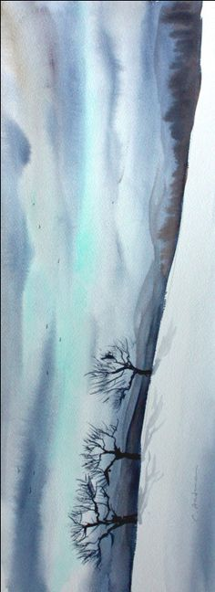 snowy landscape paintings - Google Search