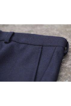 LePantalon - Pantalon flanelle bleu marine homme en vente sur LePantalon.