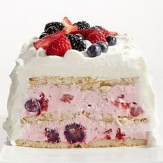 Lemon-Berry Icebox Cake YOU WILL LOVE THIS SCRUMPTIOUS TREAT TO SERVE WHEN YOUR FAMILY AND FRIENDS COME OVER. SO DELICIOUS THAT YOU WILL BE PROUD TO HAVE IN YOUR RECIPE BOX, FOR SURE...ENJOY