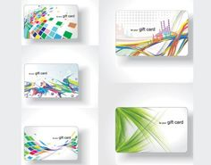 5 Bright Abstract Gift Cards Vector Set - http://www.dawnbrushes.com/5-bright-abstract-gift-cards-vector-set/