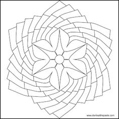 Don't Eat the Paste: Flower Mandala to color Mandala Coloring Pages, Free Coloring Pages, Coloring Sheets, Coloring Books, Celtic, Sacred Geometry Tattoo, Stained Glass Patterns, Flower Mandala, Mandala Pattern