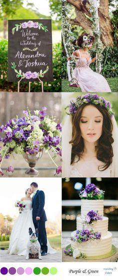 {Green & Purple} Wedding Color Inspiration