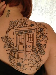 Doctor Who tattoo #TARDIS #DoctorWho #Whovian by Drea Durazo at Fighting 4 Dreams tattoo in Riverside Ca